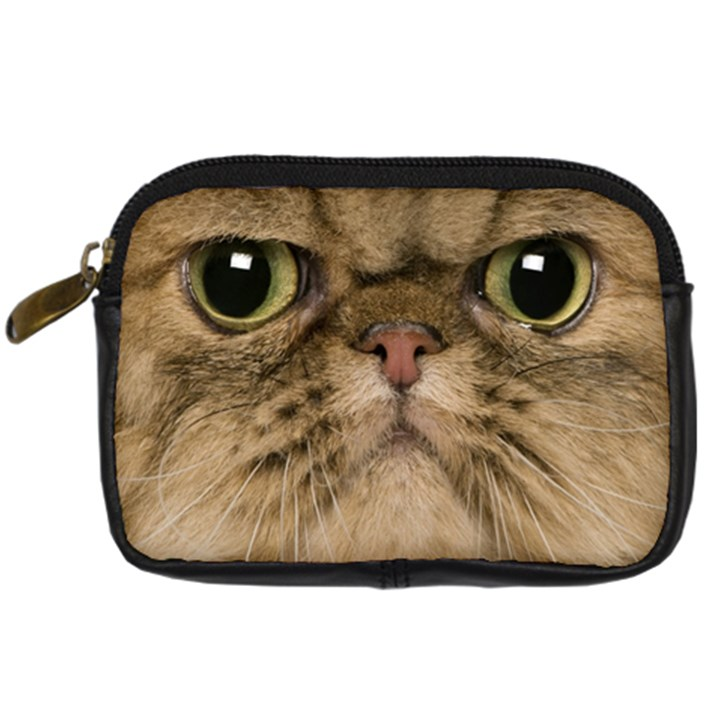 Cute Persian Cat face In Closeup Digital Camera Cases
