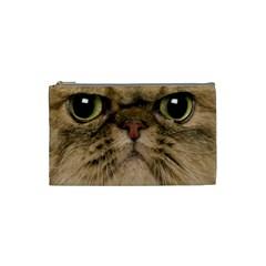 Cute Persian Cat Face In Closeup Cosmetic Bag (small)  by Amaryn4rt