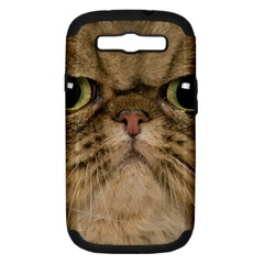 Cute Persian Cat Face In Closeup Samsung Galaxy S Iii Hardshell Case (pc+silicone) by Amaryn4rt