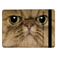 Cute Persian Cat Face In Closeup Samsung Galaxy Tab Pro 12 2  Flip Case by Amaryn4rt