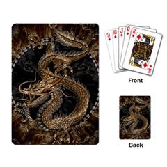 Dragon Pentagram Playing Card by Amaryn4rt