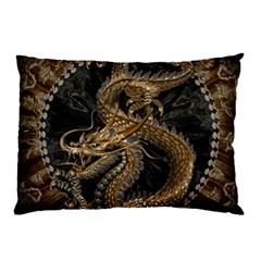 Dragon Pentagram Pillow Case (two Sides) by Amaryn4rt