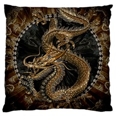 Dragon Pentagram Large Cushion Case (two Sides) by Amaryn4rt