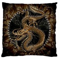 Dragon Pentagram Standard Flano Cushion Case (one Side) by Amaryn4rt
