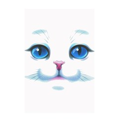Cute White Cat Blue Eyes Face Shower Curtain 48  X 72  (small)  by Amaryn4rt