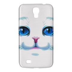Cute White Cat Blue Eyes Face Samsung Galaxy Mega 6 3  I9200 Hardshell Case by Amaryn4rt