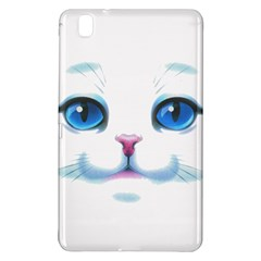 Cute White Cat Blue Eyes Face Samsung Galaxy Tab Pro 8 4 Hardshell Case by Amaryn4rt