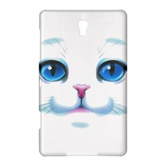 Cute White Cat Blue Eyes Face Samsung Galaxy Tab S (8 4 ) Hardshell Case  by Amaryn4rt
