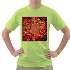 Dreamcatcher Stained Glass Green T Shirt