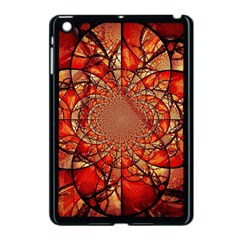 Dreamcatcher Stained Glass Apple Ipad Mini Case (black) by Amaryn4rt