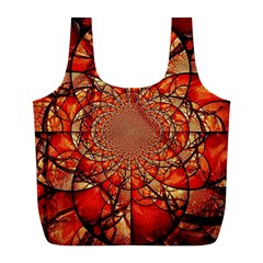 Dreamcatcher Stained Glass Full Print Recycle Bags (l)  by Amaryn4rt
