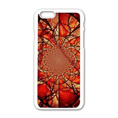 Dreamcatcher Stained Glass Apple Iphone 6/6s White Enamel Case by Amaryn4rt