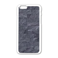 Excellent Seamless Slate Stone Floor Texture Apple Iphone 6/6s White Enamel Case by Amaryn4rt