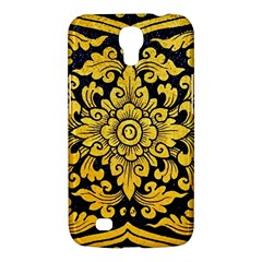 Flower Pattern In Traditional Thai Style Art Painting On Window Of The Temple Samsung Galaxy Mega 6 3  I9200 Hardshell Case by Amaryn4rt