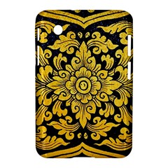 Flower Pattern In Traditional Thai Style Art Painting On Window Of The Temple Samsung Galaxy Tab 2 (7 ) P3100 Hardshell Case  by Amaryn4rt
