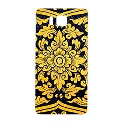 Flower Pattern In Traditional Thai Style Art Painting On Window Of The Temple Samsung Galaxy Alpha Hardshell Back Case by Amaryn4rt