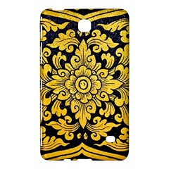 Flower Pattern In Traditional Thai Style Art Painting On Window Of The Temple Samsung Galaxy Tab 4 (7 ) Hardshell Case  by Amaryn4rt