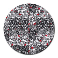 Sribble Plaid Round Mousepads by Amaryn4rt