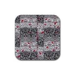 Sribble Plaid Rubber Coaster (square)