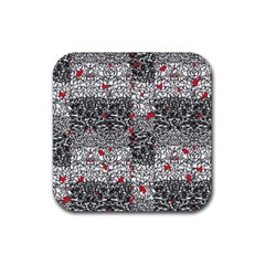 Sribble Plaid Rubber Square Coaster (4 Pack)  by Amaryn4rt