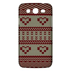 Stitched Seamless Pattern With Silhouette Of Heart Samsung Galaxy Mega 5 8 I9152 Hardshell Case  by Amaryn4rt