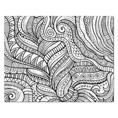 Zentangle Art Patterns Rectangular Jigsaw Puzzl by Amaryn4rt