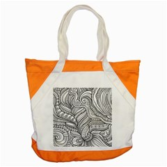 Zentangle Art Patterns Accent Tote Bag by Amaryn4rt