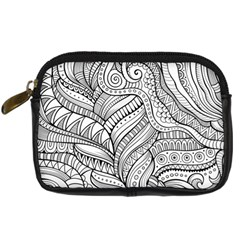 Zentangle Art Patterns Digital Camera Cases by Amaryn4rt