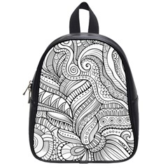 Zentangle Art Patterns School Bags (small)  by Amaryn4rt