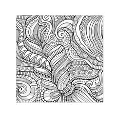 Zentangle Art Patterns Small Satin Scarf (square) by Amaryn4rt