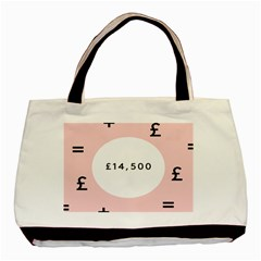 Added Less Equal With Pink White Basic Tote Bag by Alisyart