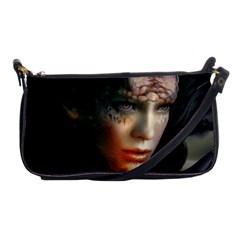 Digital Fantasy Girl Art Shoulder Clutch Bags by Onesevenart
