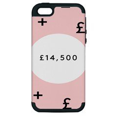 Added Less Equal With Pink White Apple Iphone 5 Hardshell Case (pc+silicone) by Alisyart