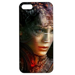 Digital Fantasy Girl Art Apple Iphone 5 Hardshell Case With Stand by Onesevenart