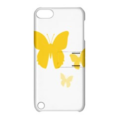 Yellow Butterfly Animals Fly Apple Ipod Touch 5 Hardshell Case With Stand by Alisyart