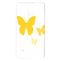 Yellow Butterfly Animals Fly Galaxy Note 4 Back Case by Alisyart