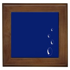 Bubbles Circle Blue Framed Tiles by Alisyart