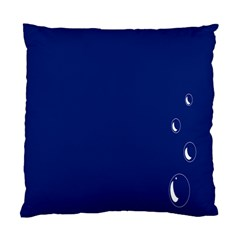 Bubbles Circle Blue Standard Cushion Case (one Side) by Alisyart