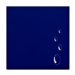 Bubbles Circle Blue Tile Coasters by Alisyart