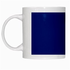 Bubbles Circle Blue White Mugs