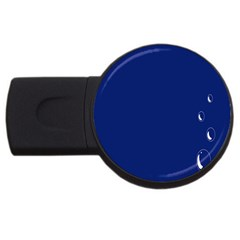 Bubbles Circle Blue Usb Flash Drive Round (4 Gb) by Alisyart