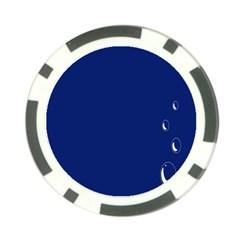 Bubbles Circle Blue Poker Chip Card Guard by Alisyart