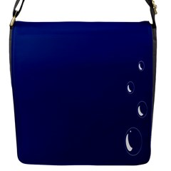 Bubbles Circle Blue Flap Messenger Bag (s) by Alisyart