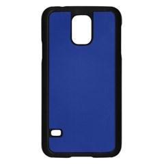 Bubbles Circle Blue Samsung Galaxy S5 Case (black) by Alisyart