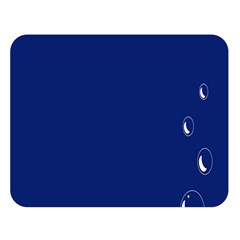 Bubbles Circle Blue Double Sided Flano Blanket (large)  by Alisyart