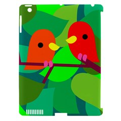 Animals Birds Red Orange Green Leaf Tree Apple Ipad 3/4 Hardshell Case (compatible With Smart Cover) by Alisyart