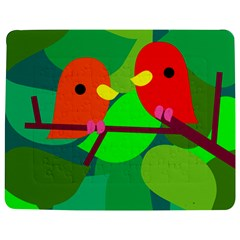 Animals Birds Red Orange Green Leaf Tree Jigsaw Puzzle Photo Stand (rectangular) by Alisyart
