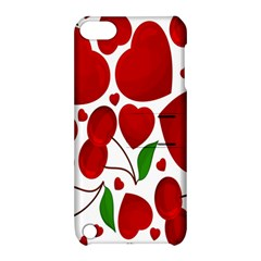 Cherry Fruit Red Love Heart Valentine Green Apple Ipod Touch 5 Hardshell Case With Stand