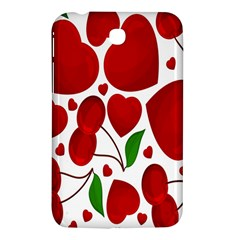 Cherry Fruit Red Love Heart Valentine Green Samsung Galaxy Tab 3 (7 ) P3200 Hardshell Case