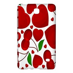 Cherry Fruit Red Love Heart Valentine Green Samsung Galaxy Tab 4 (8 ) Hardshell Case